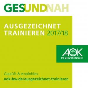 Bild AusgezeichnetTrainieren_Logo AOK CeOS Fitnesstudio
