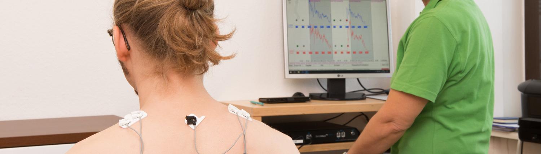 Bild EMG Messung Dr. Spieker Achern
