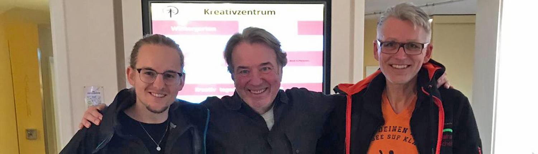 Bild Alfred Spieker und Lukas Ehmann im Schindlerhof bei Klaus Kobjoll