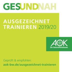 AOK Pruefsiegel Fitnessstudio Achern zertifiziert