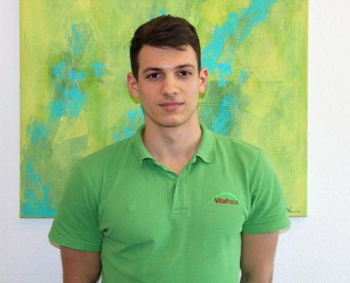 Luka Misetic Dualer Student Physiotherapie CeOS Achern Bild
