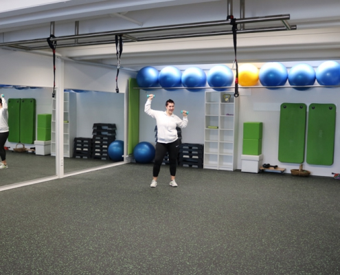 Gruppenraum neu für Fitnesskurse Achern 2020 Vitalhaus