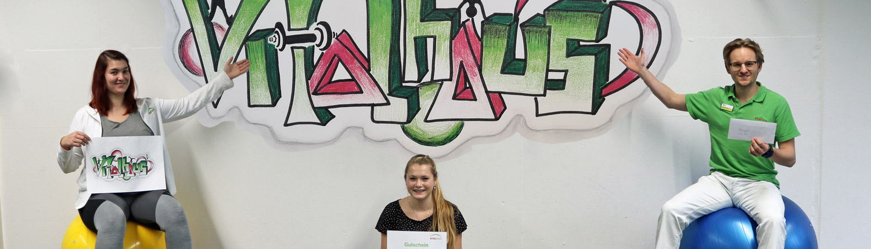 Wettbewerb Papersports Kreativität Vitalhaus Achern Graffiti Gruppenraum Kurse
