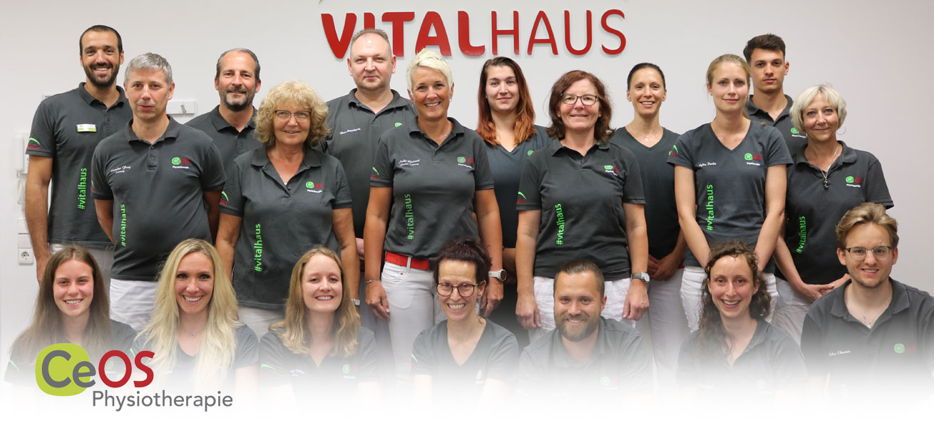 CeOS Physiotherapie Team 2021 Vitalhaus